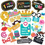 WOBBOX Hand Made First Birthday Party Props – Suitable for 1st Birthday His or Hers Birthday Celebration Photo Booth Props fo