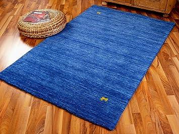 Gabbeh teppich  Indo Gabbeh Teppich Shiva Blau Uni: Amazon.de: Küche & Haushalt