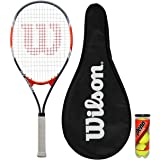 Wilson Fusion XL Tennis Racket + Full Cover & 3 Tennis Balls