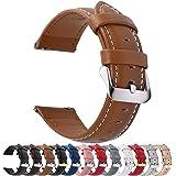 Fullmosa Cinturino 20mm Orologio, Axus Cinturini in Pelle, Compatible con Amazfit Bip/Bip Lite, Amazfit GTS/GTR 42mm, Huawei