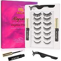 Ciglia magnetiche, eyeliner magnetico, ciglia magnetiche artificiali, 7 paia di ciglia finte Set di 2 eyeliner magnetico…