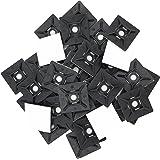 intervisio 100 Pièces Embases Adhesive pour Attache de Cable, 28mm x 28 mm, Noir, Serre-Câbles Auto Adhésif, Support de Serre Câble Plastique, Embase pour Collier de Serrage