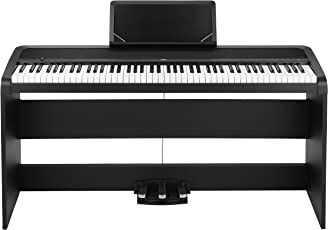 Korg B1SPBK Concert-Piano Slim-Line 8 Sounds, Speakersystem mit Motional Feedback Technologie