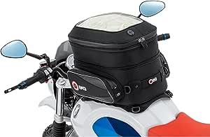 Qbag Tankrucksack Motorrad Magnet Tanktasche Motorrad Tankrucksack 12 Magnet Riemen 29 37 Liter Stauraum Unisex Multipurpose Sommer Nylon Schwarz Auto