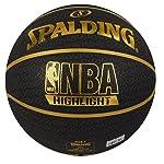 "Spalding Fast S"" Highlight Basketball Size-7 (Black/Gold)"