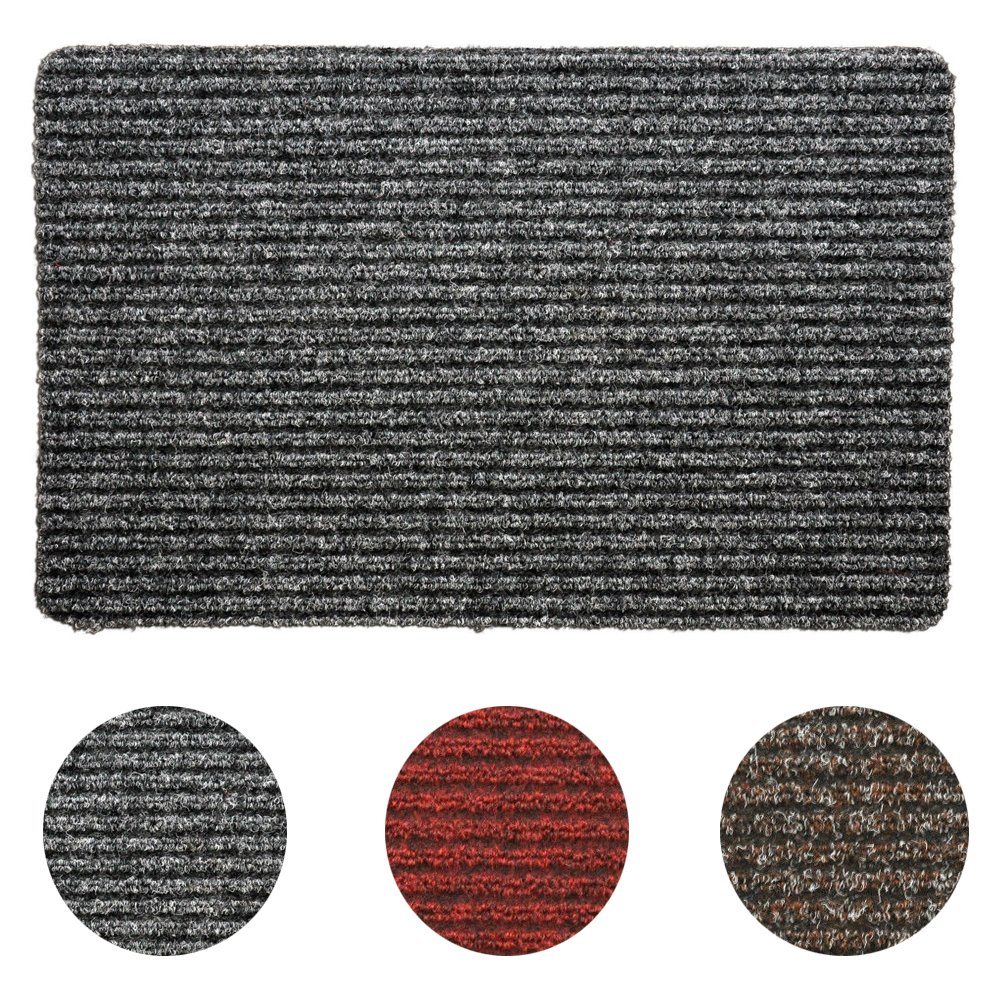 Non Slip Kitchen Floor Mats Medium Grey Black Non Slip Door Mat Rubber Backed Runner Barrier