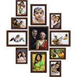Amazon Brand - Solimo Collage Photo Frames, Set of 11,Wall Hanging (6 pcs - 4x6 inch, 4 pcs - 5x7 inch, 1 pc - 8x10 inch),Bro