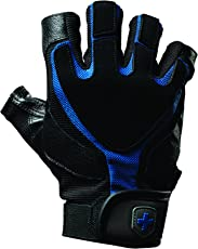 Harbinger Training Grip Tech Gel-Padded Leather Palm Weightlifting Gloves, Pair