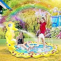 Decdeal Splash Pad Wasserspielmatte Sprinkler Kinder 68 Zoll PVC Geeignet f/ür Rasen Strand Outdoor