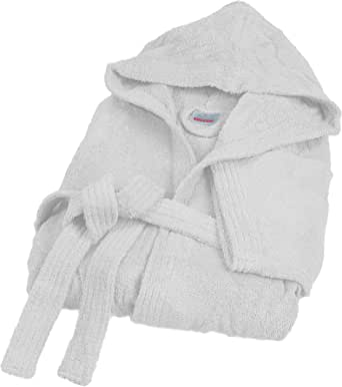 Bassetti Nuovo Accappatoio 100% Spugna di Puro Cotone Tinta Unita Lungo con Cappuccio e Tasche Altamente Assorbente Uomo Donna Unisex S-5XL