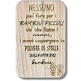 Pekiedo Tagliere da Cucina in Legno Naturale 100% Made in Italy Idea Regalo Festa dei Nonni con Dedica incisa Accessorio indi