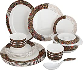 Smart Dinning Paisley 40 pcs Melamine Dinner Set