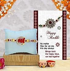 TIED RIBBONS Premium Rakhi for Bhai with Rakshabandhan Special Card