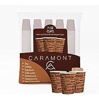 Caramont,7 Oz 400 Gobelets en Carton avec Agitateurs en Bois,Écologique et Jetables,Résistant à la Chaleur,pour la…