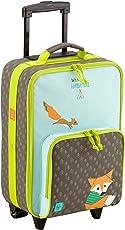 Lässig stabiler Kinder Reisekoffer/Kindertrolley mit separatem Schuh-/Wäschebeutel, Little Tree Fox