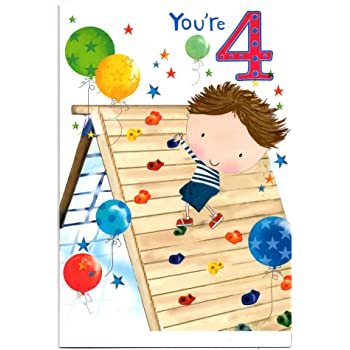 Birthday Card For Four 4 Year Old Girl Or Boy