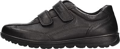 ENVAL SOFT 4225200 Nero Scarpa Uomo Sneaker Strappo Pelle Made in Italy