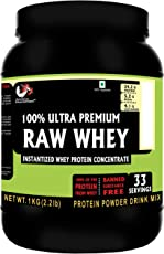 Advance MuscleMass 100% Raw Whey Protein (Raw Whey Imported from USA) Supplement Powder (Unflavoured) 1 kg 2.2 Lb (33 Servings)