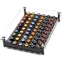 Homiso Porte Dosette de Café - Nespresso Compatible - Rangement pour Capsule de Café, 60x Capsules