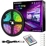 3M RGB LED Strip Lights, IP65 Waterdicht Gekleurde USB TV Backlights met afstandsbediening, 16 Kleur Veranderende 180 5050 LE