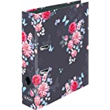 maX.file Classeur A4 Motif coccinelles et fleurs Largeur du dos 8 cm