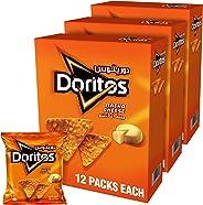 Doritos Nacho Cheese Tortilla Chips 23gm x 12 Pack of 3