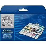 Winsor&Newton Cotman Sulu Boya, Plus Cep Tipi Set 12Xyarım Tablet