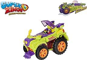 SuperZings- Camión Villano Especial - Vehículos y figuras exclusivas coleccionables, Color verde, Playset (Magic Box...