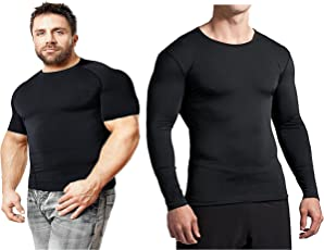 Bloomun Black Full and Half Sleeve Compression / Inner Tops - Combo Pack