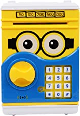 Toyvala Minion ATM|Speaking Money Safe For Kids with Smart Electronic Lock | Piggy Bank for Coin/Bills (Yellow) | Original Merchandise From Minion Series | Best For Gifts And Personal Use | Teach Your Kid Money Saving