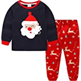 Navidad Pijamas Niños Ropa Navideñas Suéter Rayado Algodón Camisetas 2-13 Años