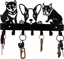HeavenlyKraft Puppies Metal Key Holder(Black)