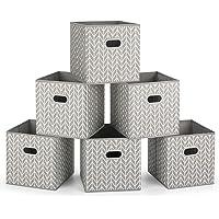MaidMAX Casier Rangement, Cube de Rangement Tissu, Boite de Rangement Tissu, Tiroir Rangement, Panieres Rangement, avec…