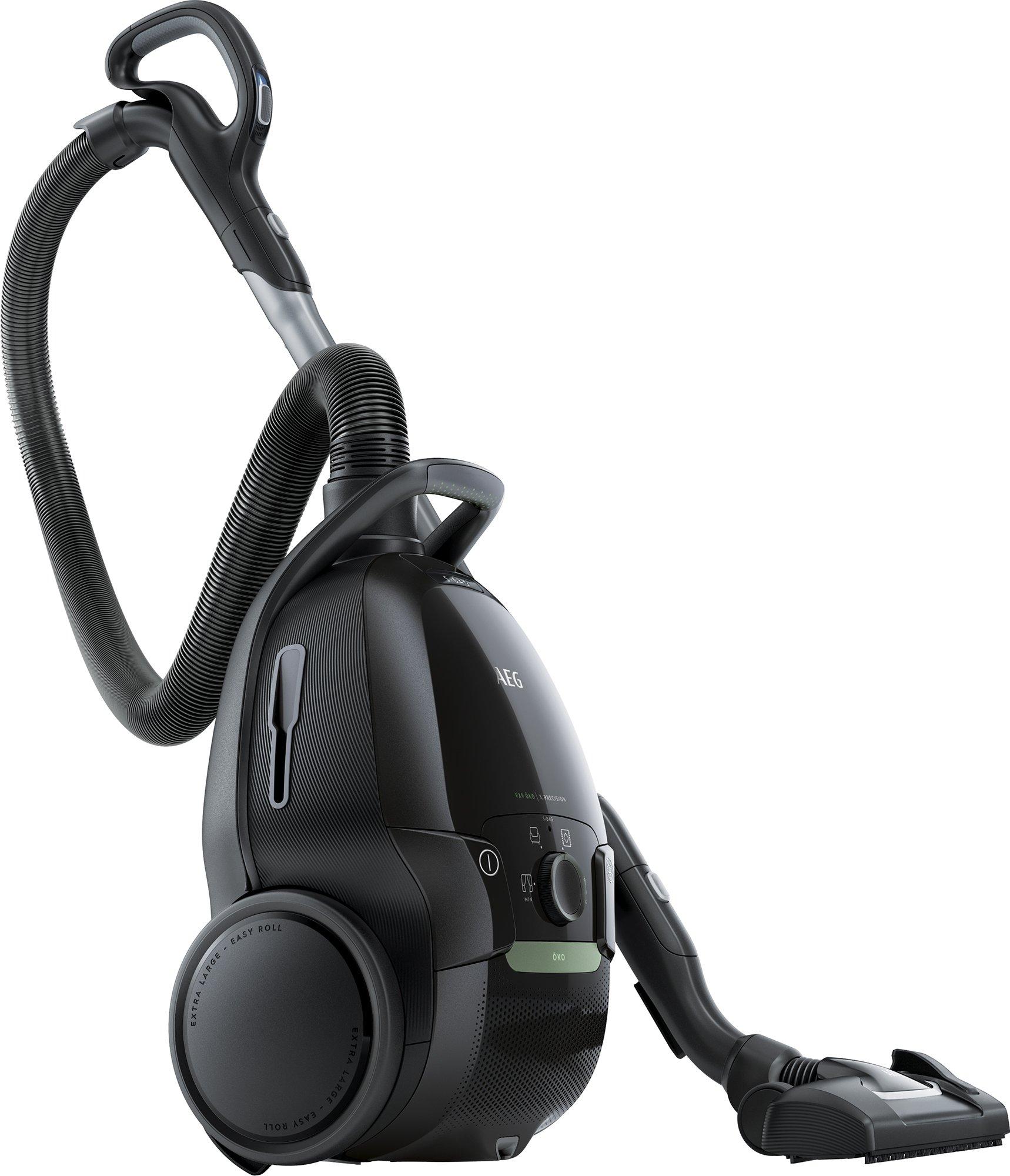 AEG VX9-4-ÖKO Staubsauger mit Beutel (70% Recyclingmaterial, XL-Softräder, besonders leise, Ergo-Handgriff, Inkl…