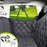 Meadowlark® Hund bilsätesskydd för baksäte, vattentätt! Hela bilskydd-dörrar, nackstöd och baksäte. Sidoflaff med dragkedja,