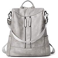 Rucksack Damen Anti Diebstahl Rucksack Damenrucksack aus Leder Rucksackhandtasche Tagesrucksack für Frauen Mädchen