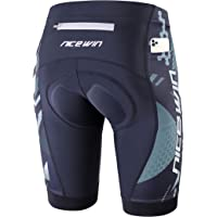 NICEWIN Pantaloncini da Ciclismo da Uomo Bicicletta Pantaloncini MTB Ciclismo Uomo Imbottiti in Gel 3D Traspiranti ad…