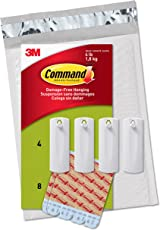 3M Command Plastic Sawtooth Picture Hangers (White, 4-Hangers, 8-Strips)
