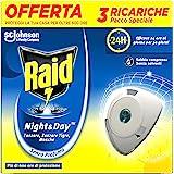 Raid night & day moustiques Triple Recharge – contient un paquet de 1 recharge + 1 paquet de 2 recharges
