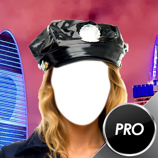 Polizei-Foto-Montage - Polizei Kostüm Streich