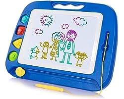 SGILE Pizarra Magnética Infantil, 42x32cm Grande Magnético Pintura de la Escritura Doodle Sketch Pad, Juguetes para Niños Inf