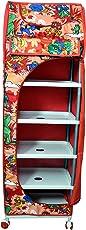 Childcraft Multipurpose Red Toy Box/Almirah - 6 Shelves