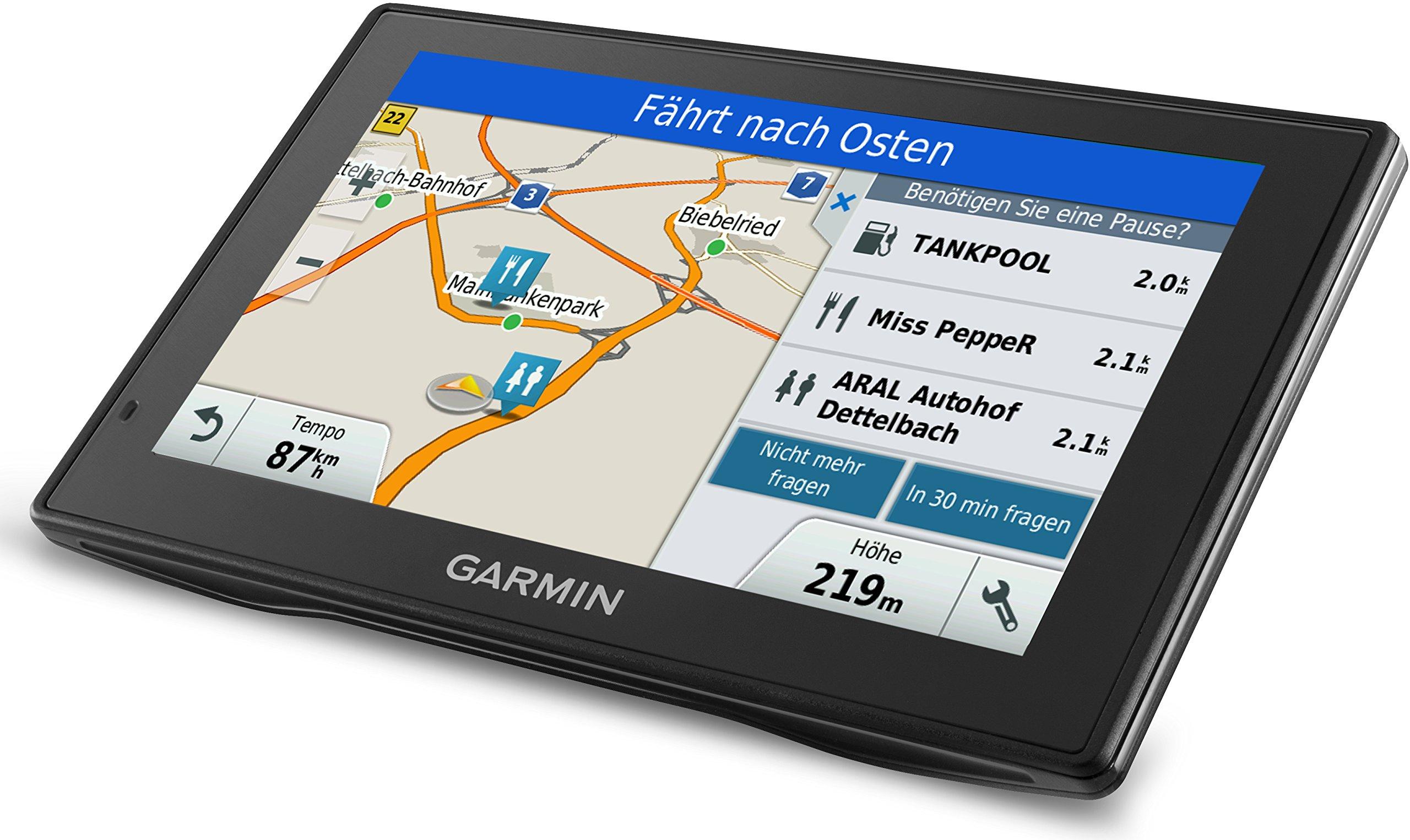 Garmin-DriveSmart-LMT-D-EU-Navigationsgert-Touch-Glasdisplay-lebenslange-Kartenupdates-Verkehrsfunklizenz-Sprachsteuerung
