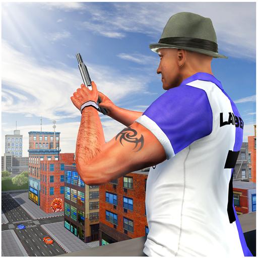 Wütende Stadt-Mafia-kriminelle Flucht