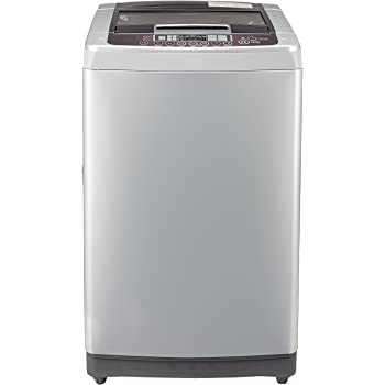 LG 7 kg Fully-Automatic Top Loading Washing Machine (T8067TEDLR, Free Silver/Wine Black)