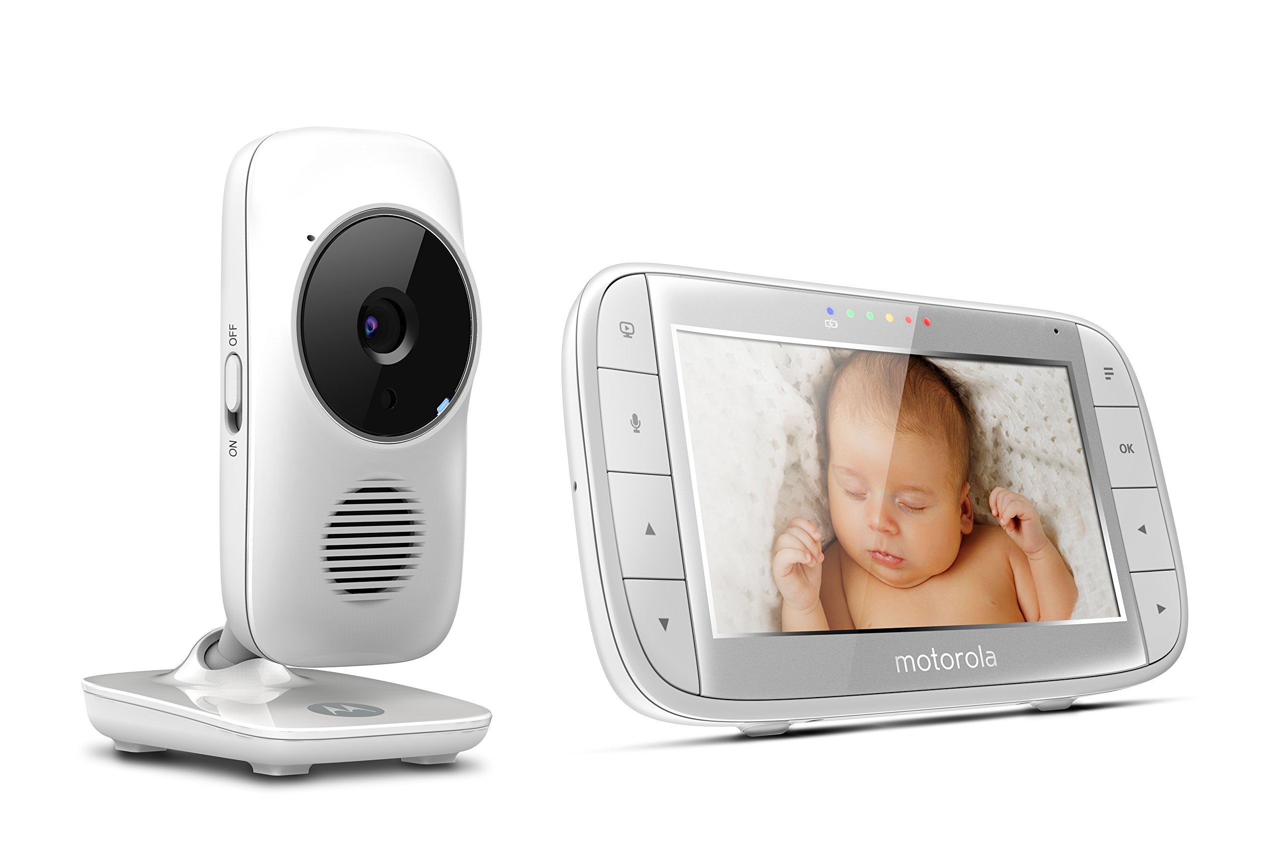 "Motorola MBP48 5 inch Video Baby Monitor Motorola Baby 5"" color display two-way communication Infrared night vision Room temperature monitoring 3"
