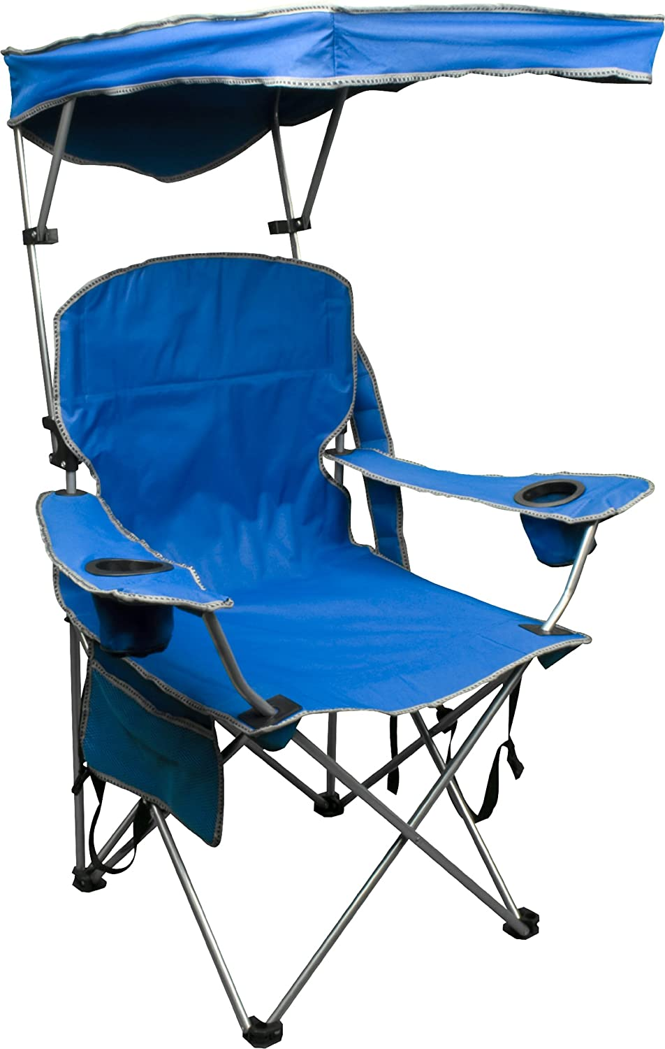 Outdoor chair camping - Quik Shade Adjustable Canopy Folding Camp Chair Royal Blue Amazon Co Uk Sports Outdoors