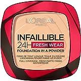 L'Oréal Paris Polvos Compactos Mate Infalible 24H, Larga Duración, Cobertura Media-Alta, Resistente al Agua, Tono: 40 Cashmer