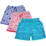 sonia collection Fancy Multi Coloured Printed Cotton Comfortable Barmuda/Shorts for Sports, Yoga, Daily Use Gym, Night Wear, Casual Wear for Women - Combo Offer Pack, Set of 3