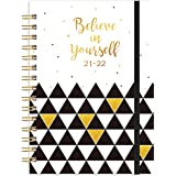 Indeme Diary 2021-2022, A5 Week to View Planner Diary, 2021 & 2022 Calendars Overview Page, Monthly Tabs and Inner Pocket, Pe
